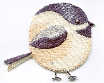 Chubby Chickadee - Bird - Spring/Nature - Iron on Applique/Embroidered Patch - 697353-A