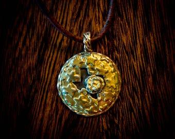 Gold Texas pendant, yellow rose of Texas
