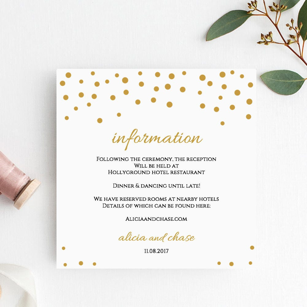 Gold confetti rsvp card template wedding printable rsvp card gold confetti rsvp card template wedding printable rsvp card wedding response card gold wedding orlando editable printable template pronofoot35fo Images