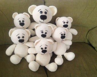 Teddy bears knitted crochet amigurumi