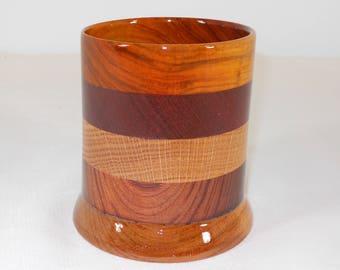 Wood Pencil Holder, Wooden Pen Cup, Office Desk Organizer (#172)