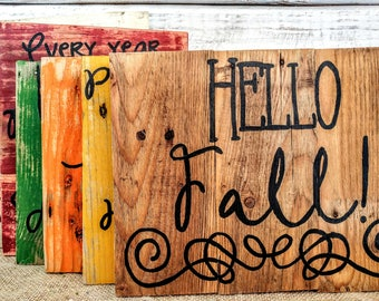 Fall pallet art, rustic Fall signs, Fall wall hanging, Autumn signs, Fall signs, Autumn pallet art, fall pallet signs