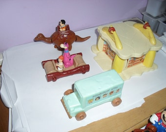 Vintage McDonald's Flintstones Set (of 4) 1994. Toys & Games, Toys, Dinosaur, Car, Bus, Bedrock, Fred, Barney, Dino