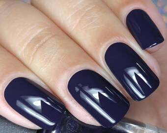 Dark Purple Nail Polish The Rapture Gothic Family Jewels Bath And Beauty Gift Under 10 Gift For Her Pepper Pot Polish