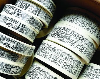 CUSTOM TAPE DESIGN // Hand-Lettered, Branding, Washi Tape