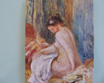 Vintage Pierre-Auguste Renoir Lady Oil Painting Post Card( Free shipping)