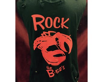 Custom Vintage Distressed B-52's Tshirt