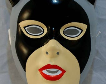 Vintage Catwoman Halloween Mask DC Comics Rubies Costume Co Batman Animated Y21