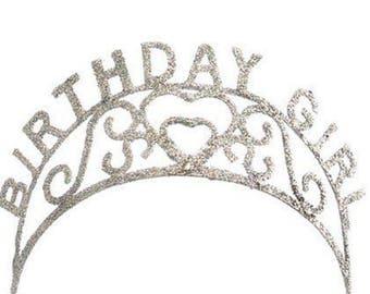 Birthday Girl Sparkle Tiara Party Favor Decor - 14105