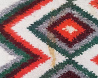 Size:6.7 ft by 4.4 ft Handmade Kilim Vintage Thick Moroccan Kilim