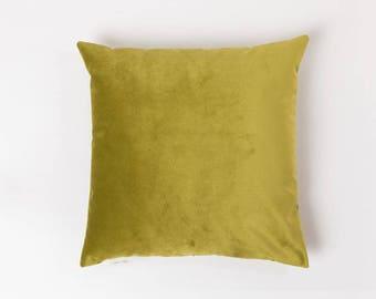 Velvet Touch Cushion . Emerald Green   Velvet Cushion   Throw Pillow   Velvet Pillow   Pillow Case   Decorative Pillow   Accent Pillow