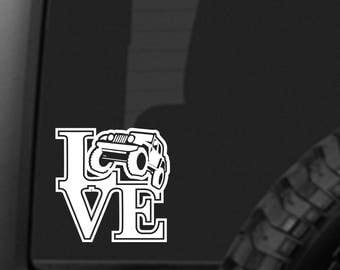 JEEP LOVE Sticker - car decal