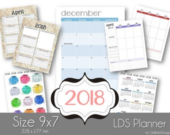 2018 LDS Planner - Perfect for adding to any notebook or creating your own personal planner from scratch