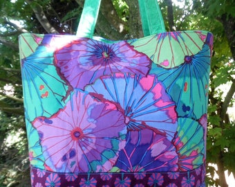 "Designer fabric ""One summer at Giverny"" bag"