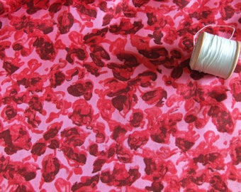 vintage length of 1950's,1960's, patterned, silk, dressmaking fabric