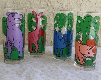 Vintage Dinosaur Drink Glasses