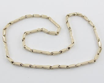 14k Yellow Gold Men's Necklace, 14k Yellow gold Men's link Chain