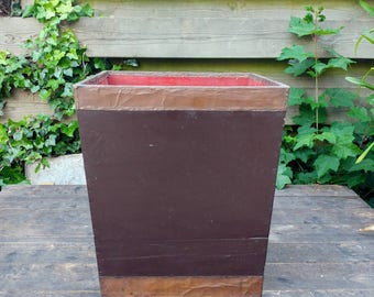 Vintage wooden copper plated box