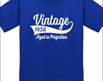 80th Birthday T Shirt Vintage 1938 T-Shirt Milestone Birthday Party Gift