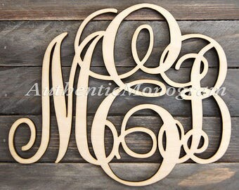 Summer Party  Summer Outdoors WOODEN MONOGRAM Wall Letters Unpainted - Monogram Wall Hanging -  Wedding Decor - Door Hanger - Nursery