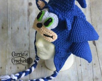 NO CHRISTMAS ORDERS -- Crochet Sonic the Hedgehog Hat