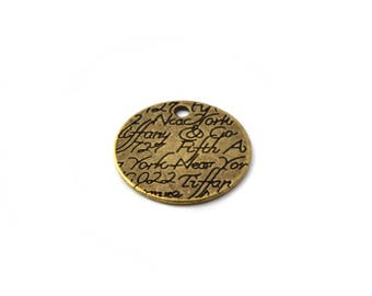 Bronze charm medal writing color