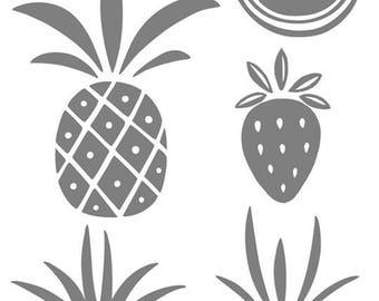 Sticker glitter pineapple textile