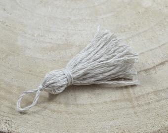 Cotton Pompom and linen beige color /GP03
