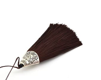 Brown tassel with Silver Cup 8 cm