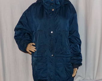 Eddie Bauer Women's Winter Coat 3M Thinsulate with hood  L Comfy Vintage LOW & FAST Shipping