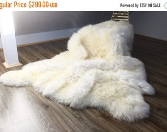 genuine natural creamy white sheepskin rug pelt giant sheepskin throw sexto