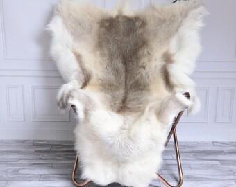 Reindeer Hide | Reindeer Rug | Reindeer Skin | Throw XL Large - Scandinavian Style #15RE16
