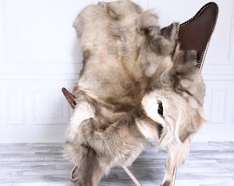 Reindeer Hide | Reindeer Rug | Reindeer Skin | Throw XXL EXTRA Large - Scandinavian Style #15RE26