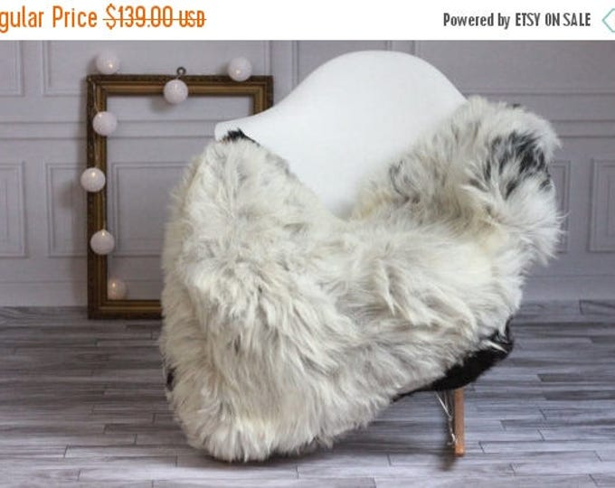 ON SALE Exclusive collection Genuine Gray GUTE Gotland Breed Sheepskin Rug, Pelt, Chair Cover, Throw Scandinavian Style #Gutesty7