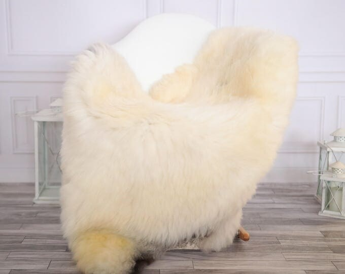 Sheepskin Rug | Real Sheepskin Rug | Shaggy Rug | Scandinavian Rug | Sheepskin Throw Ivory Sheepskin | CHRISTMAS DECOR | #DECHER19