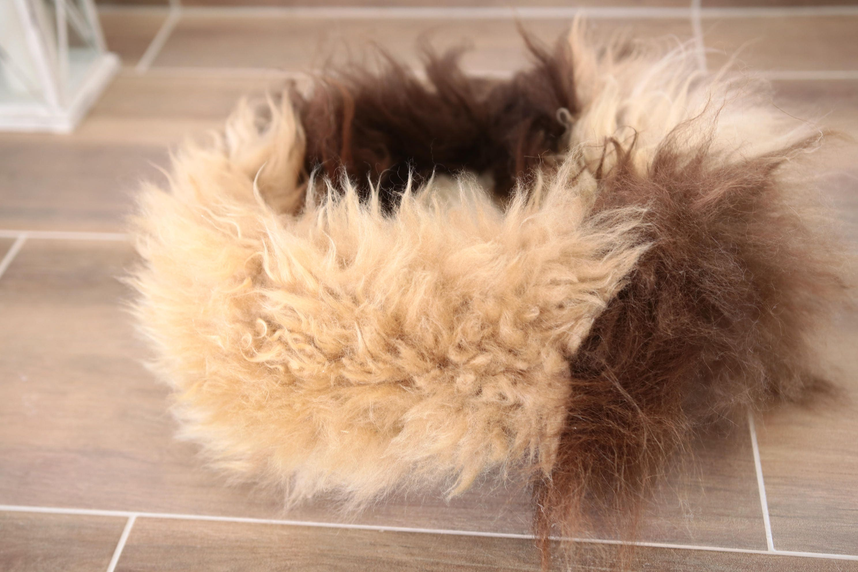 Real Sheepskin Dog Bed