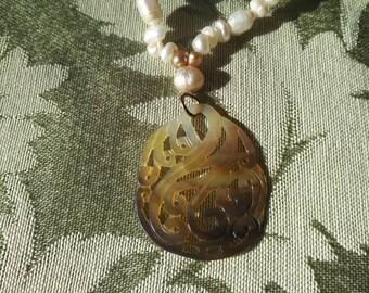 Freshwater pearl neckalce