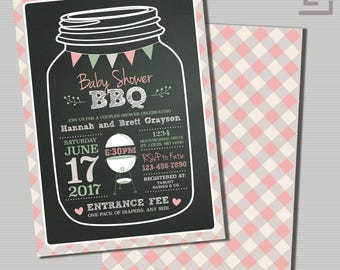 baby shower bbq invitation printable