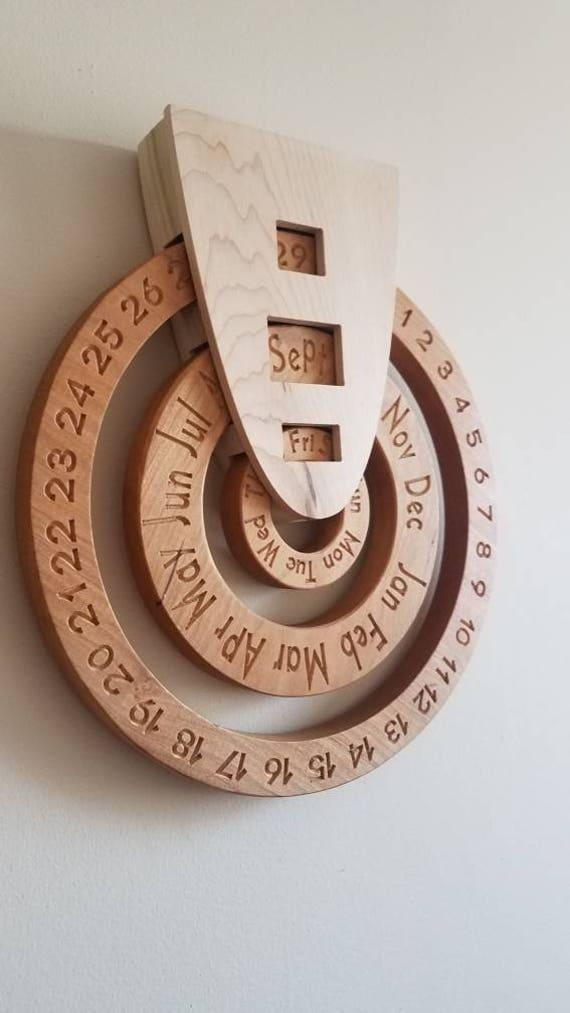 Perpetual Calendar Wood : Perpetual calendar wooden wood