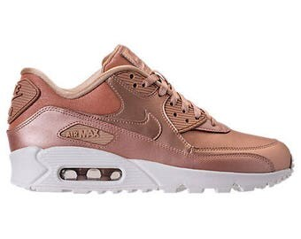 ade31d49dfb0 ... Swarovski Rose Gold Womens Nike Air Max 90 SE Shoes ...