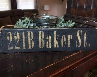 221B Baker St. Sign-Handmade