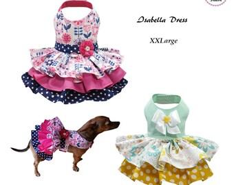 Isabella Dog Dress XXLARGE, Dog Dress Sewing Pattern PDF, Digital Dog Harness Sewing Pattern, Pet Clothes Tutorial and Sewing Pattern