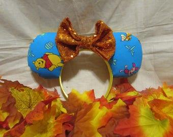 Winnie the Pooh inspired Mouse Ears / Headband