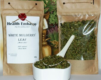 White Mulberry Leaf (Morus alba) 50g - Health Embassy - Organic