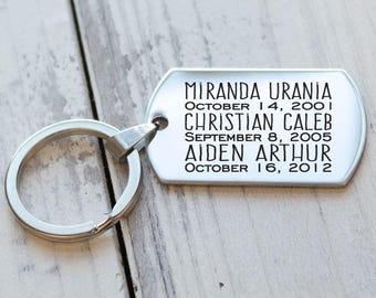 All My Babies Personalized Key Chain - Engraved