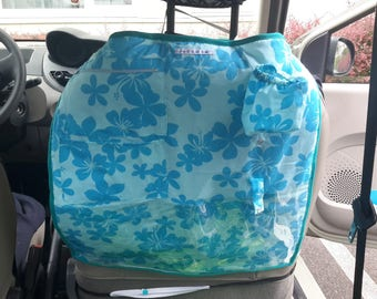 Blue flowers car seat protection