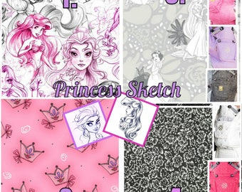 Ergo360 or Lillebaby 3-PC sets.  Headrest Bib/Straight Pads. Curved Pads upgrade available.  PRINCESS SKETCH. Choise 2 fabrics.