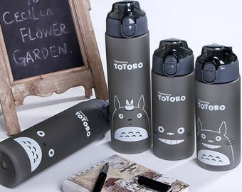 BPA Free,Totoro Water Bottle,Outdoor water bottle/Portable Outdoor Sports CyclingCamping Bicycle Aluminum Alloy School kids water bottle