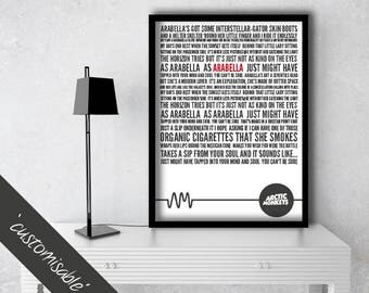 Arctic Monkeys Print - Arabella Lyrics