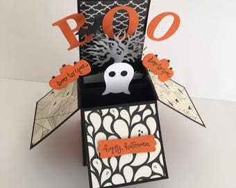 Handmade Happy Halloween Card in a box